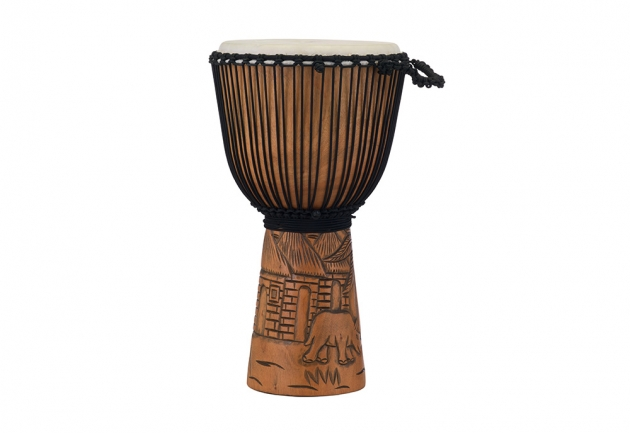 Pearl 手工雕刻實木金杯鼓 Hand Carved Mahogany Djembe 1